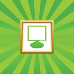 Monitor picture icon