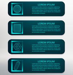 Vector Illustration. Infographic template list  Modern Design