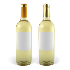 Set of vector wine bottles. Illustration contains gradient meshes.