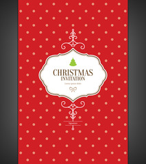Christmas and New Year. Vector invitation