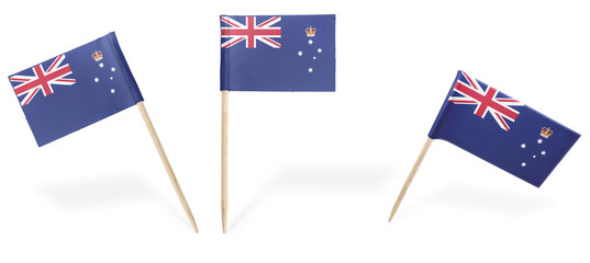 Various cocktail flags of Victoria isolated on white.(series)