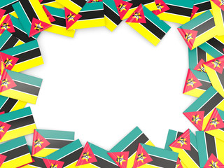 Frame with flag of mozambique