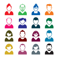 Set of people icons. Vector Illustration of avatar
