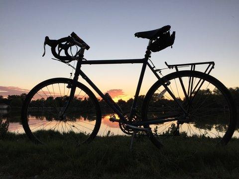 Bike with Colorado Flag Reflection