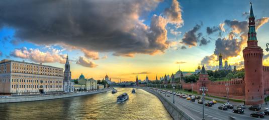 Панорама Москвы на закате