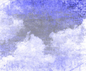 cloud on old paper texture background