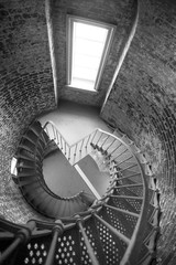Spiral Staircase Metal Brick Architecture Historic Building Inte