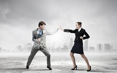 Extreme office quarrel