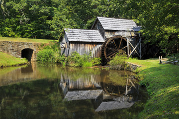 Mabry Mill on the Blue Ridge Parkway in Late Summer