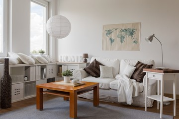 Drawing room in white