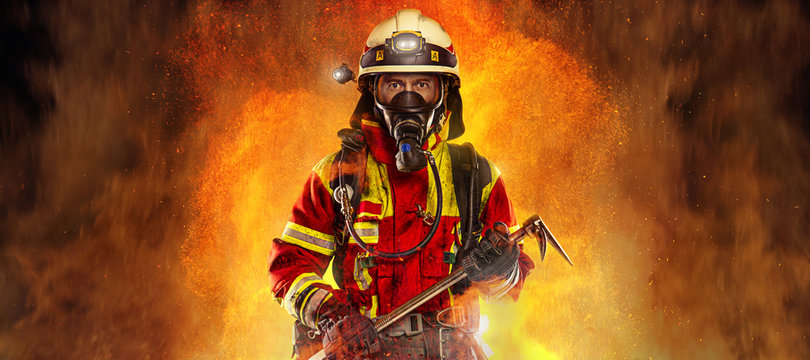 Feuerwehrmann Panorama