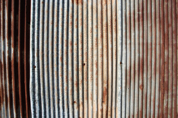 Old and rusty damaged galvanized iron texture.