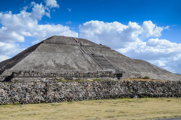 Pyramid of the sun in Teotihuacan, Mexico