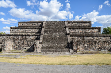 Small pyramid at Valley of the dead in Teotihuacan, Mexico