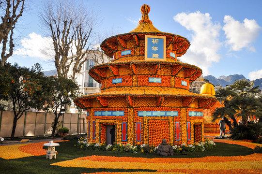 Palais de Pékin à la fête du citron