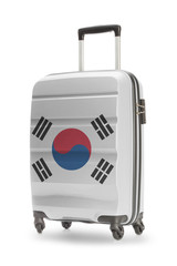 Suitcase with national flag on it - South Korea