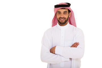 young arabian man with arms crossed