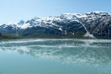 Aluminium Prints Reflection Glacier Bay Reflections