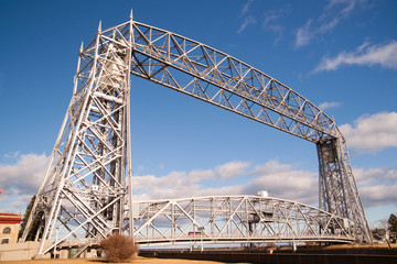 Aerial Lift Bridge Duluth Harbor Lake Superior Minnesota Wiscons