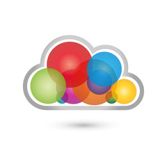 Wolke, farbig, Logo, Cloud Computing