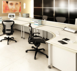 Im Büro (focused)