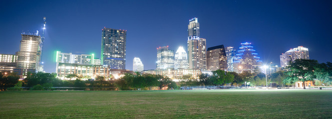 Downtown Austin Texas Skyline View Zilker Metropolitan Park