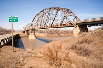 Bridge over Missouri River Montana Northern United States