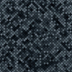 background abstract mosaic of the grid pixel pattern and squares dark gray color. vector illustration eps10