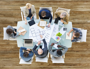 Diversity Business People Team Meeting Brainstorming Concept