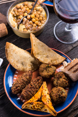 Maroccan style snack selection,tapas