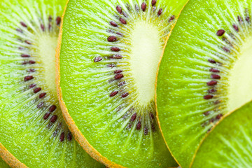 Kiwi cut by segments