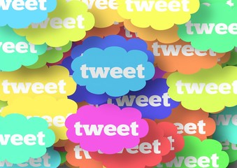 Rainbow Tweet Cloud