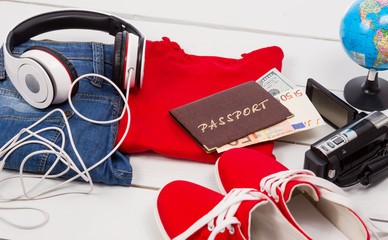 passport and other stuff for your holiday