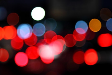 Abstract bokeh background of Christmaslight