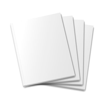 Blank covers mockup magazine template on white background
