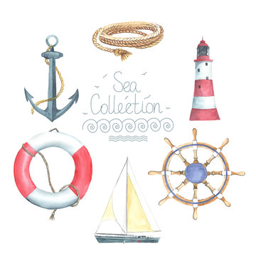 Set of nautical elements