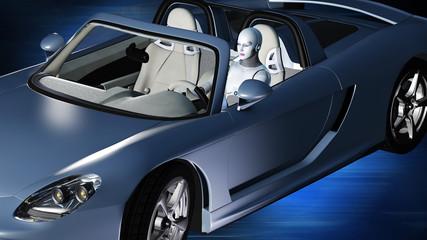 Robotergesteuerter Sportwagen