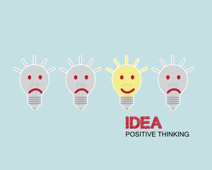 bulb positive thinking concept
