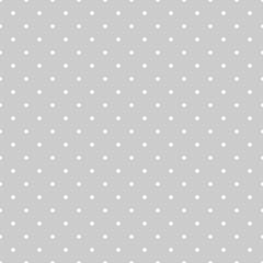 Bezszwowe biały i szary wektor wzór lub tło płytek z kropki polka - 87512503