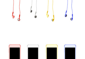 mp3 player with headphones (colored)