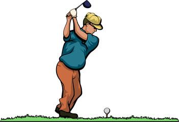 Older Duffer Golfer