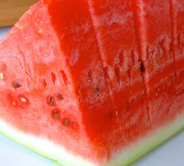 The close view of water melon
