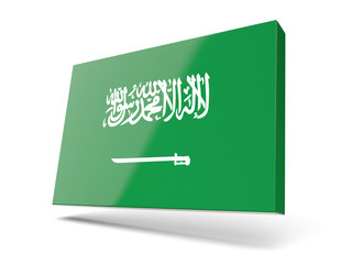 Square icon with flag of saudi arabia