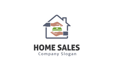 Home Sales Logo template