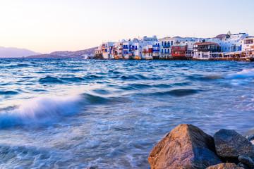 Sunset at Mykonos island, Greece