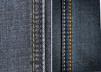 denim fabric in the background