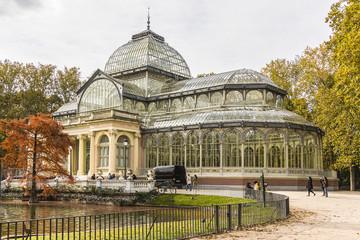 Crystal Palace (Palacio de cristal), Retiro Park, Madrid. Spain.