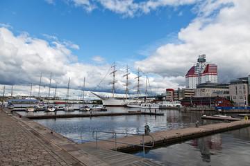 Göteborgs Hafen mit Utkiken