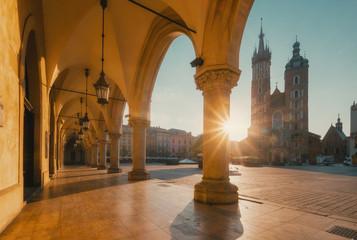 Sunrise in Krakow. Poland
