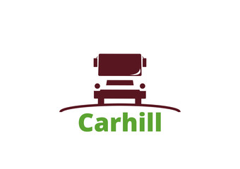 logo vector template car hill